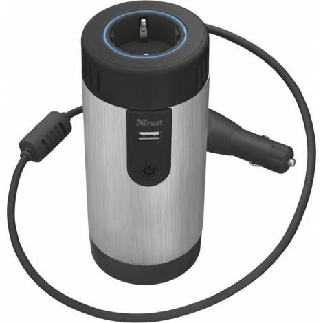 TRUST UR 230 Volt Power Socket - Φορτιστής Αυτοκινήτου - Μαύρο/Ασημί (20838)