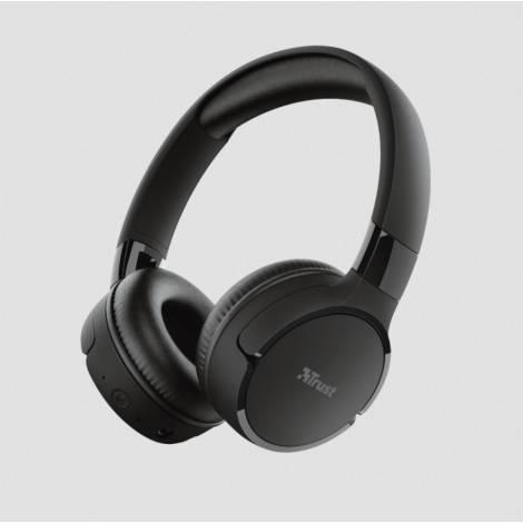 TRUST - ZENA Headphones Bluetooth Wireless - Μαύρο (24069)