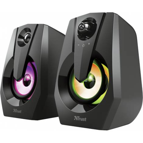 TRUST - Ziva RGB Illuminated 2.0 Gaming Speaker Set - 12W (24071)