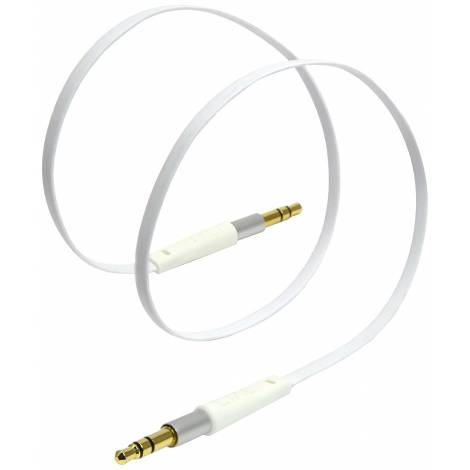 Tylt AUX 3.5mm Stereo Auxiliary Cable - White (AUXCAB1MWT-T)