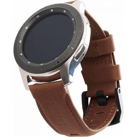 UAG Δερμάτινο Strap για SAMSUNG Galaxy Watch και Gear S3 - 46mm - ΚΑΦΕ - (29180B114080)