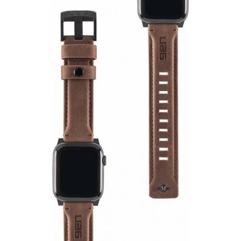 UAG Leather Strap for Apple Watch (42/44mm), Brown
