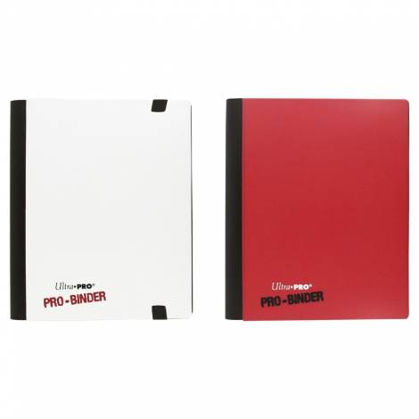 Ultra Pro 84025 4-Pocket Pro Binder Portfolio, Red/White