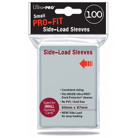Ultra Pro- Pro Fit Side Load Sleeves Small 100