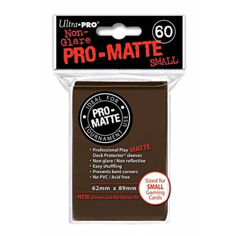 Ultra Pro Matte - Small 60 Sleeves Solid Brown