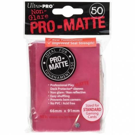 Ultra Pro Matte Standard 50 Sleeves Fuchsia  (REM84506)