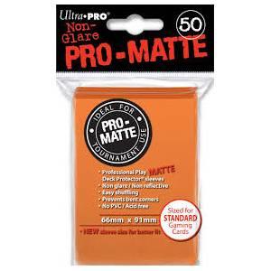 Ultra Pro - Pro Matte Standard 50 Sleeves Orange (REM84184)