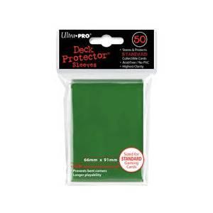 Ultra Pro - Standard 50 Sleeves Solid Green  REM82671