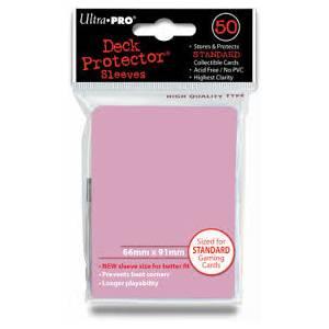 Ultra Pro - Standard 50 Sleeves Solid Pink REM82674