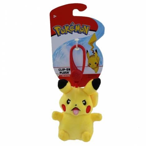 Wicked Cool Toys : Pokemon Clip-On  Pikachu Λούτρινο (JW095177)