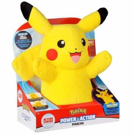 Wicked Cool Toys : Pokemon Power Action Pikachu 25εκ.  Λούτρινο  (97834)