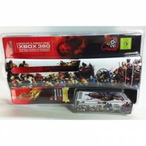 Xbox360 STREET FIGHTER IV FACEPLATE & 2 CONSOLE SKINZ