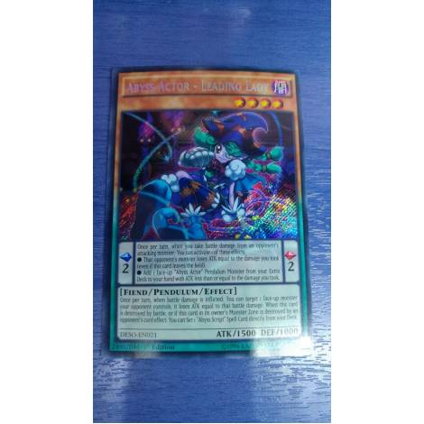 YU-GI-OH! Abyss Actor Leading Lady Secret Rare DESO-EN021