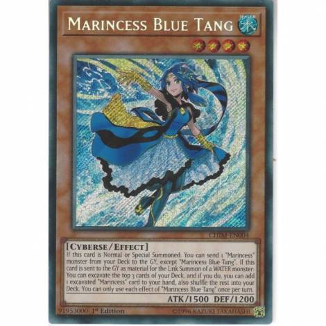 YuGiOh Marincess Blue Tang Secret Rare 1st Ed. CHIM-EN004