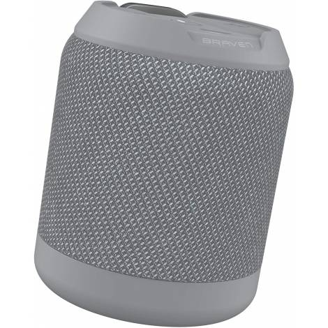 Zagg Braven BRV-MINI Rugged IPX7 Waterproof Bluetooth Speaker with Wireless Stereo Pairing and Boosted Bass - Grey (604203556)